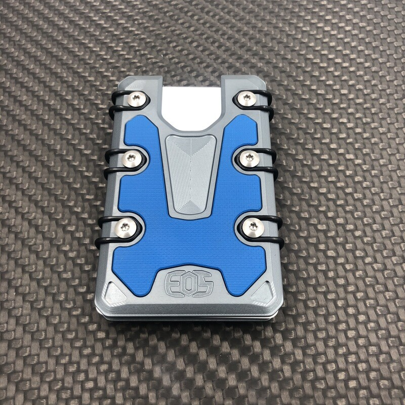 3.0 Lite Anodized Gun Metal Grey / Blue G10