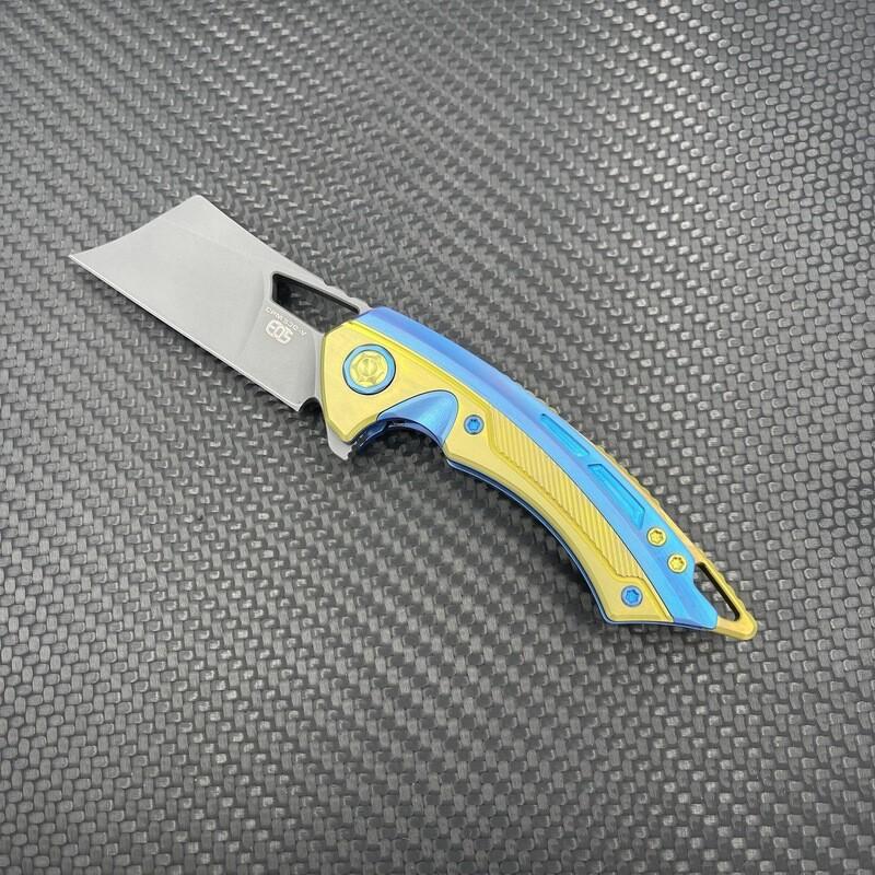Mini Cleaver (Blue & Gold)