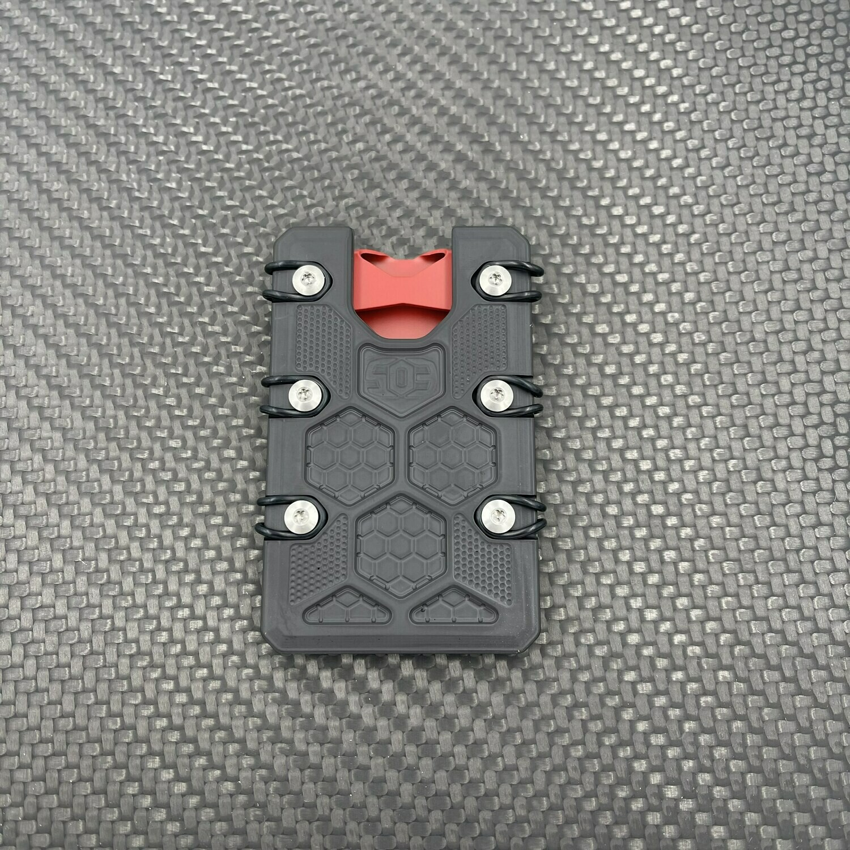 2.5 Titanium Wallet Black & Red Cerakote Deep Carry Clip
