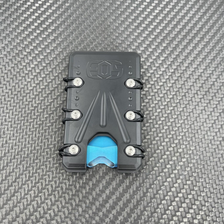2.0 Titanium Wallet Black / Blue Deep Carry Money Clip