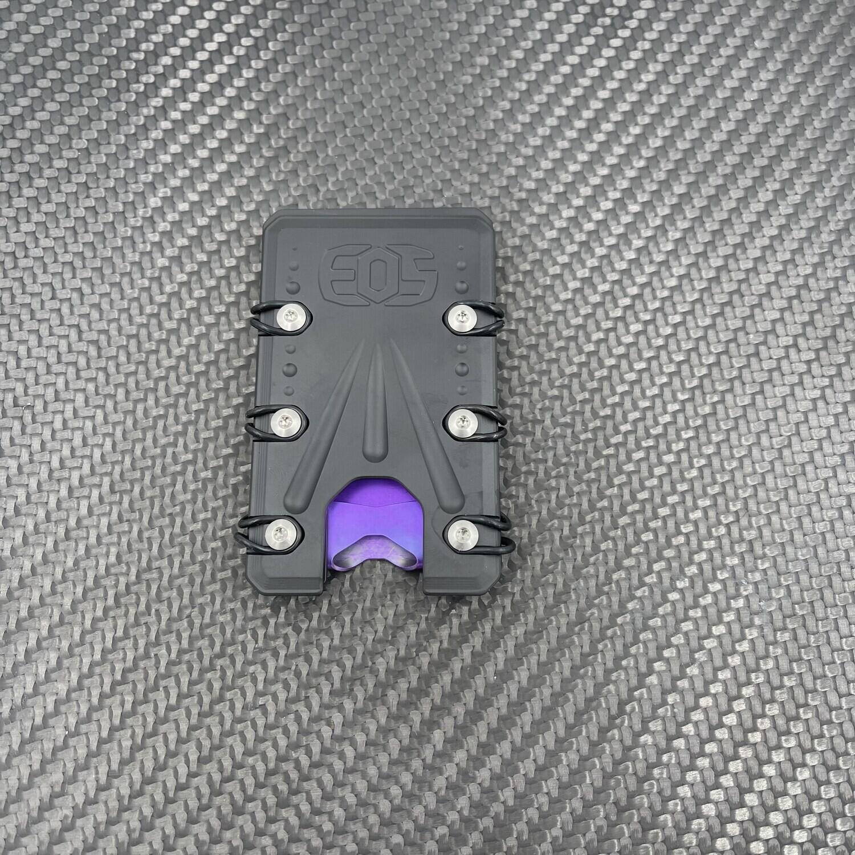 2.0 Titanium Wallet Black / Purple Deep Carry Money Clip