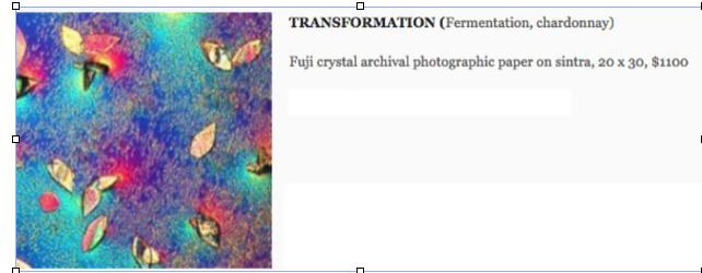 TRANSFORMATION, Fermenting chardonnay, original print. 00012