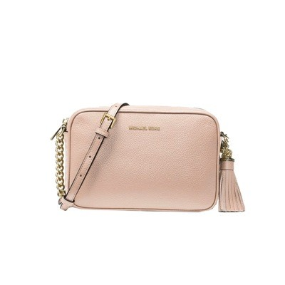 MICHAEL KORS - Tracolla Ginny in pelle - Soft Pink