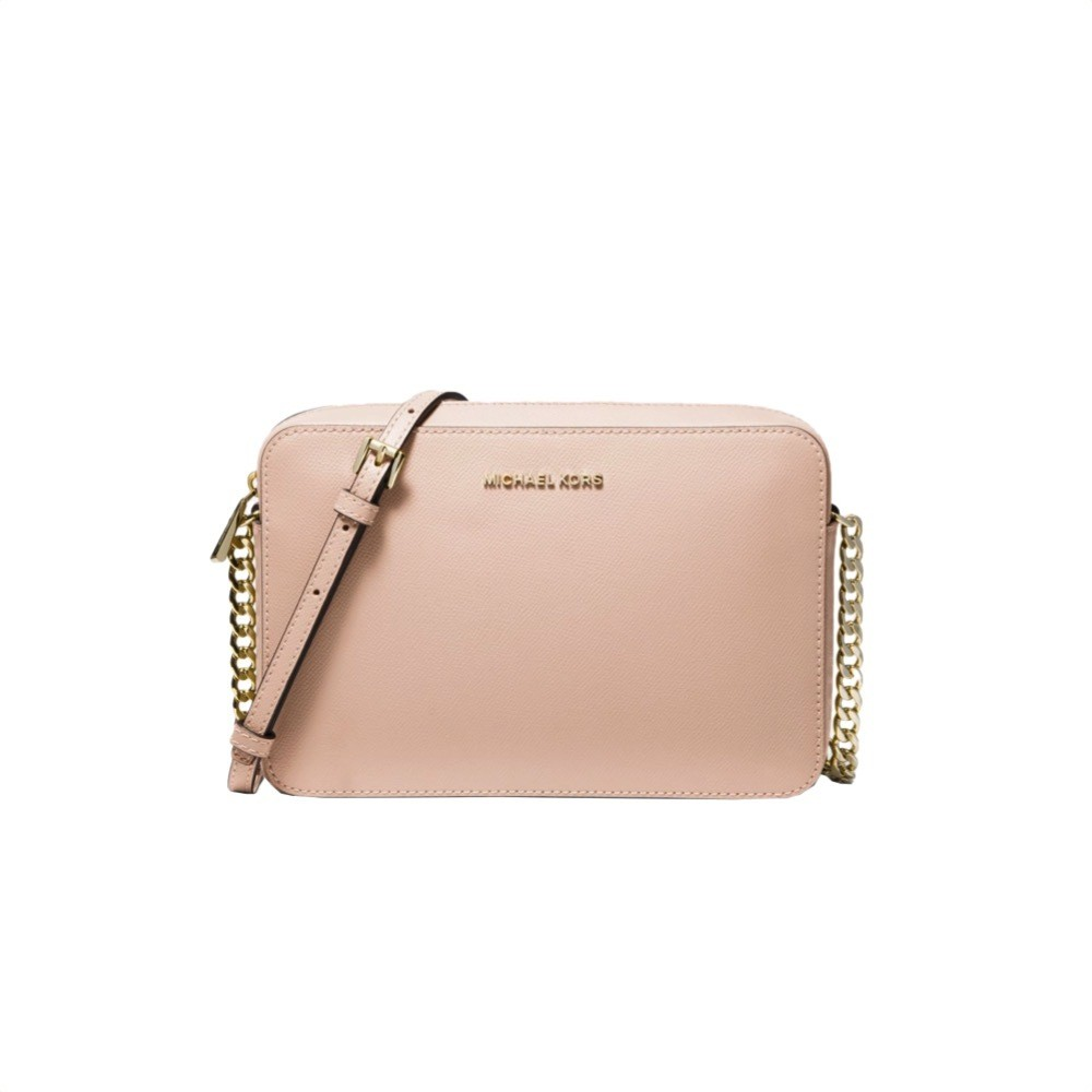 MICHAEL KORS - Tracolla Jet Set in pelle saffiano - Soft Pink