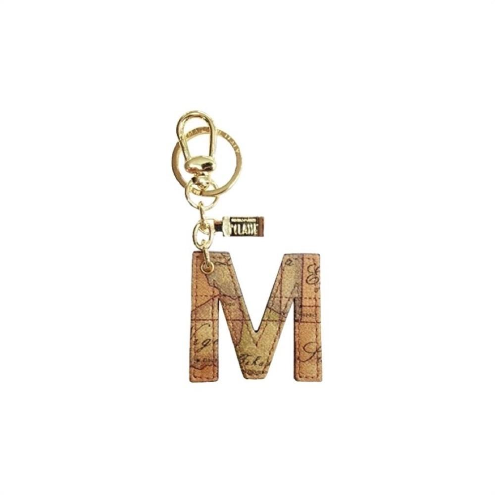"""ALVIERO MARTINI - Geo Classic Portachiavi """"M"""" - Natural"""