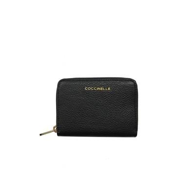 COCCINELLE - Metallic Soft Portafoglio - Noir