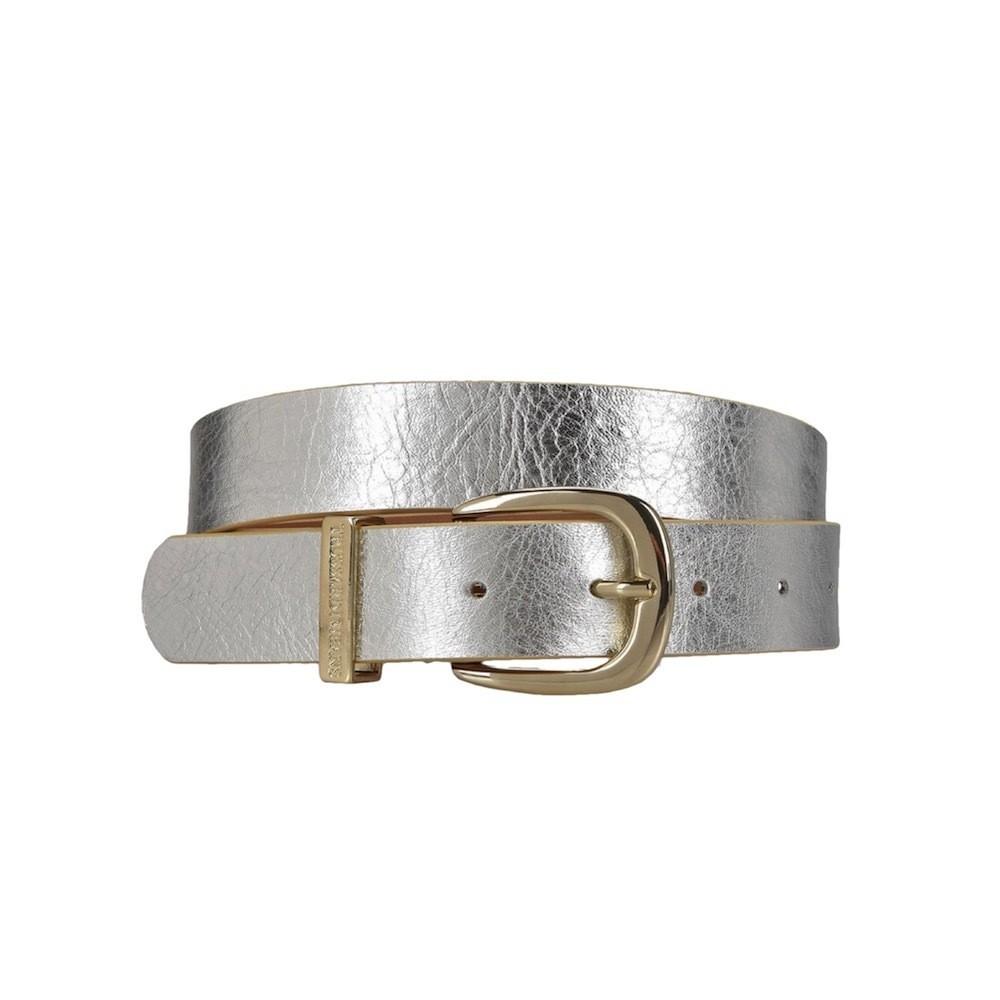 TRUSSARDI JEANS - Cintura effetto laminato - Argento