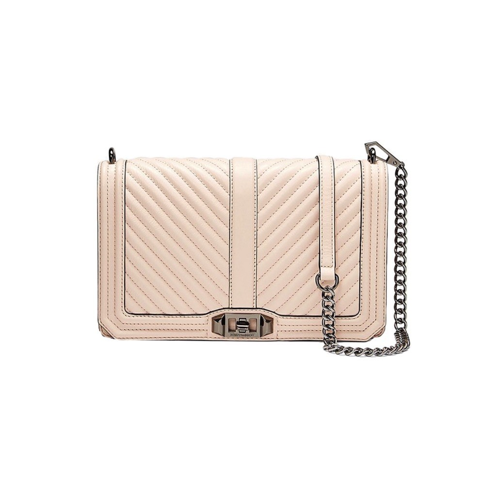 REBECCA MINKOFF - Chevron Quilted Slim Love Crossbody - Nude