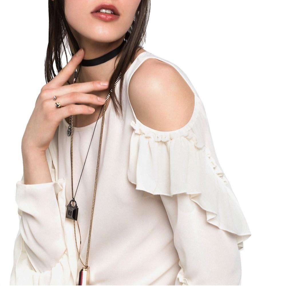 PATRIZIA PEPE - Camicia in tessuto fluido - Bianco