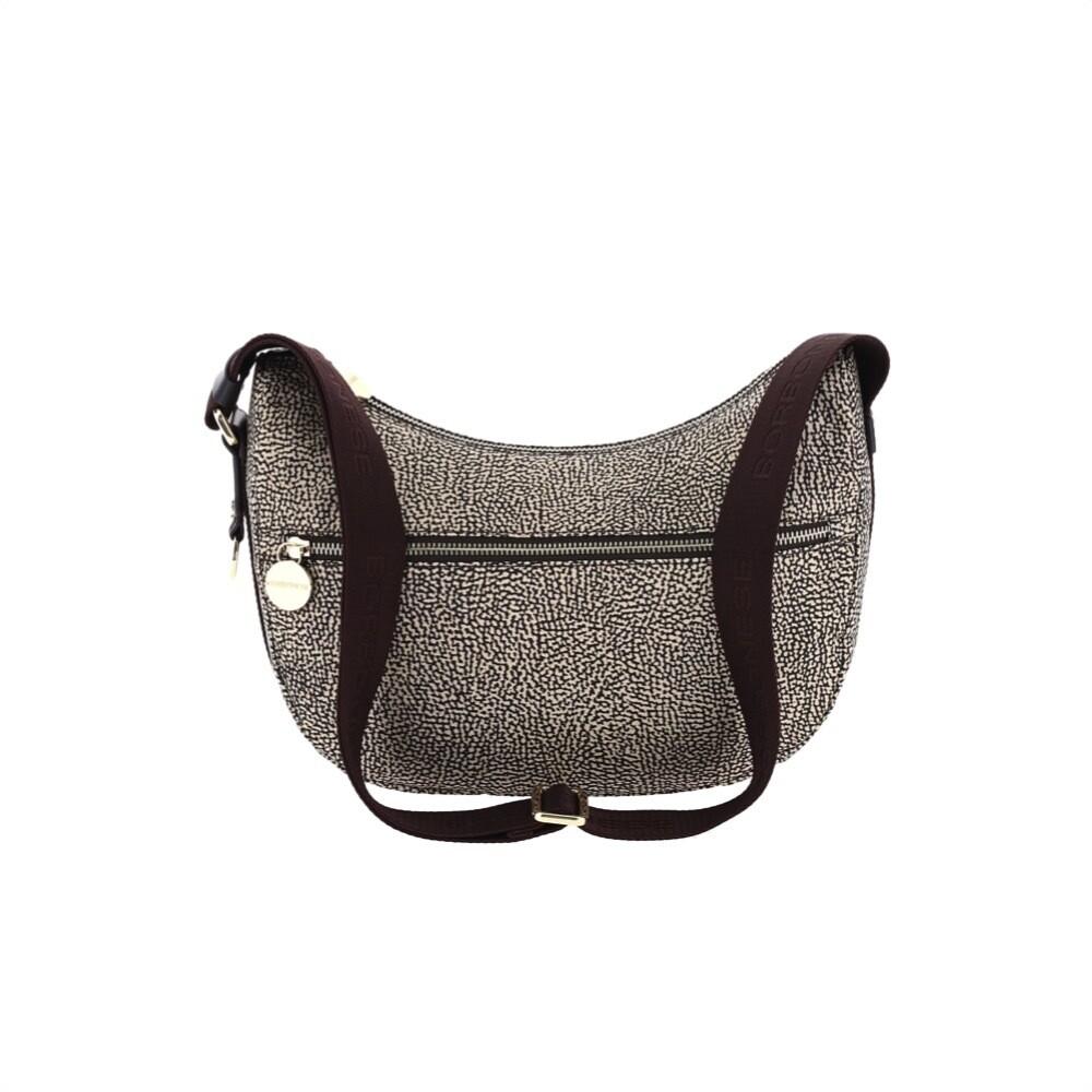 BORBONESE - Luna Bag Small in Nylon Jet OP con tasca - OP Classic/Brown