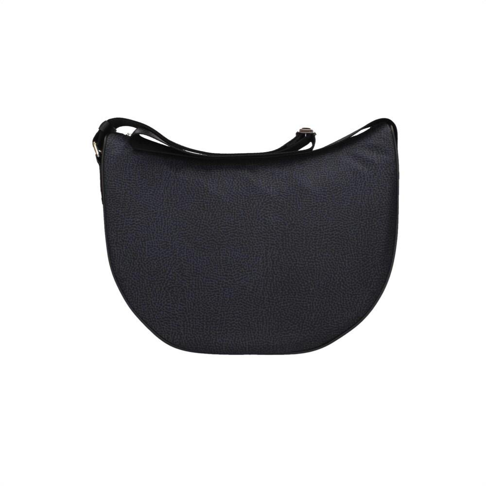 BORBONESE - Luna Bag Middle in Jet OP - Black