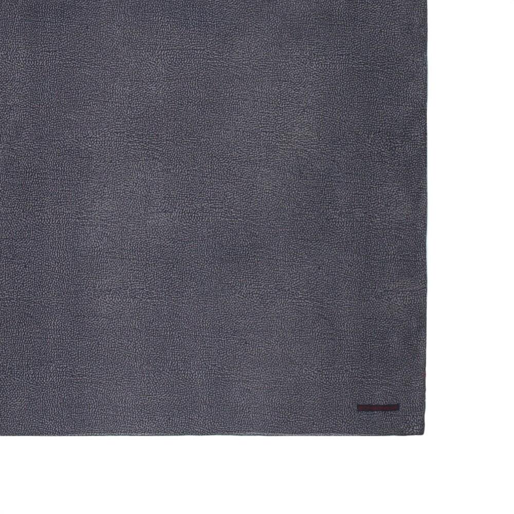 BORBONESE - Stola stampata OP misto cachemire - Slate Grey/Blue
