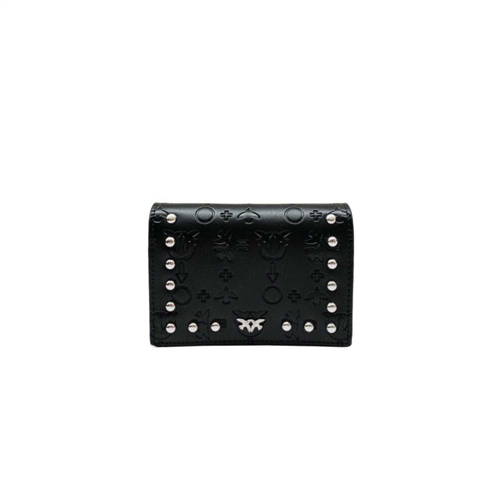 PINKO - Colazione Porta Carte di Credito - Black