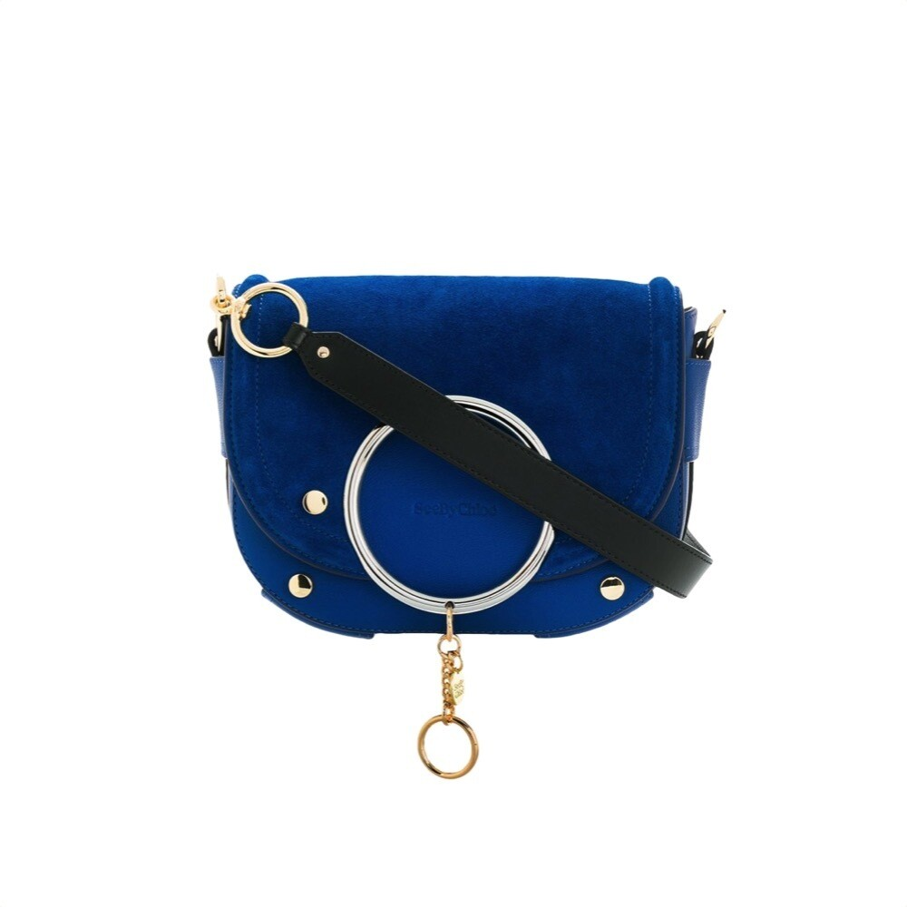 SEE BY CHLOÉ - Mara Borsa a tracolla suede - Absolute Blue