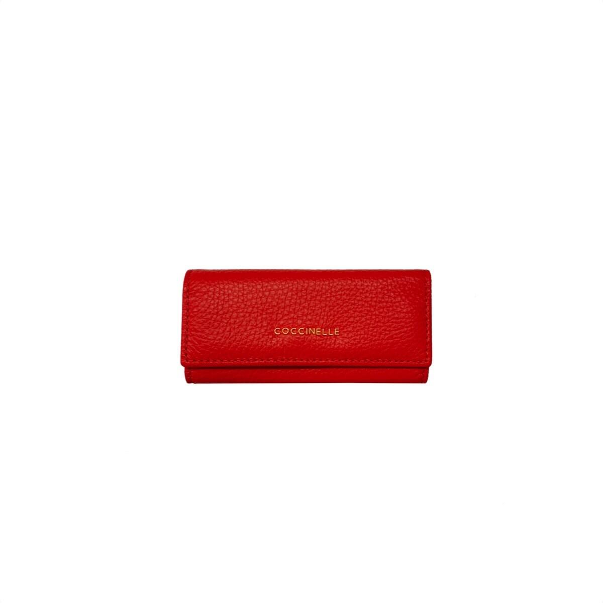 COCCINELLE - Metallic Soft Portachiavi chiuso - Polish Red