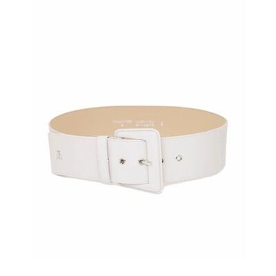 PATRIZIA PEPE - Cintura alta con fibbia in pelle - Moon Grey