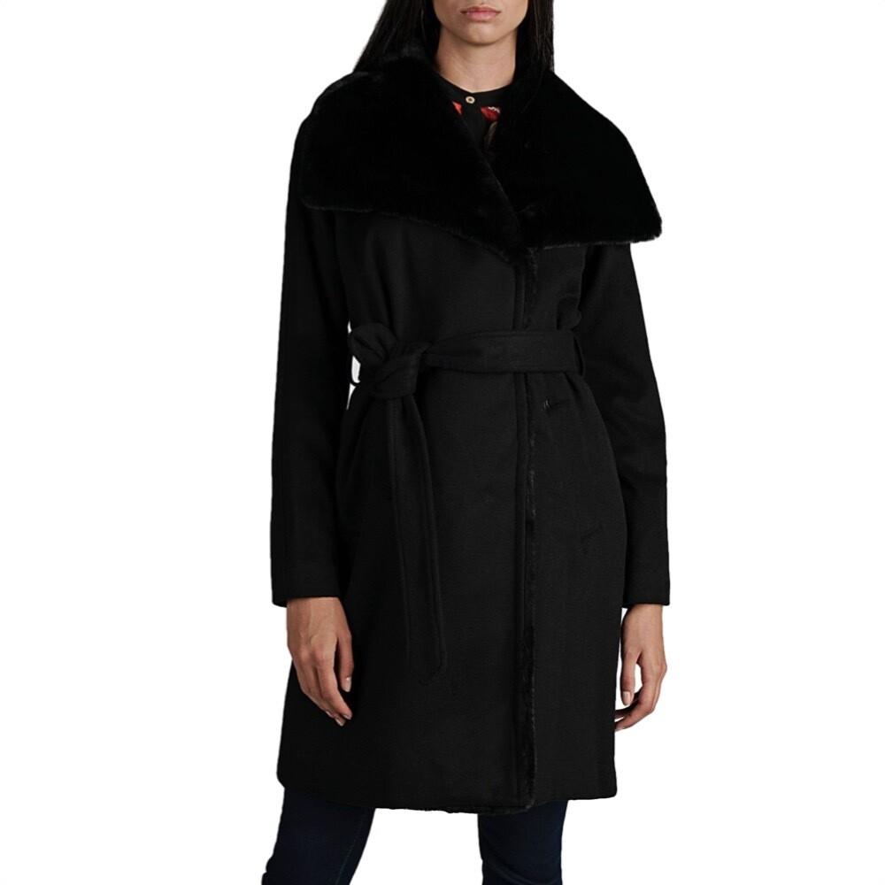 MICHAEL KORS - Cappotto midi con cintura - Black
