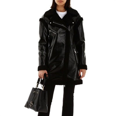 MICHAEL KORS - Montone Eco-Shearling - Black