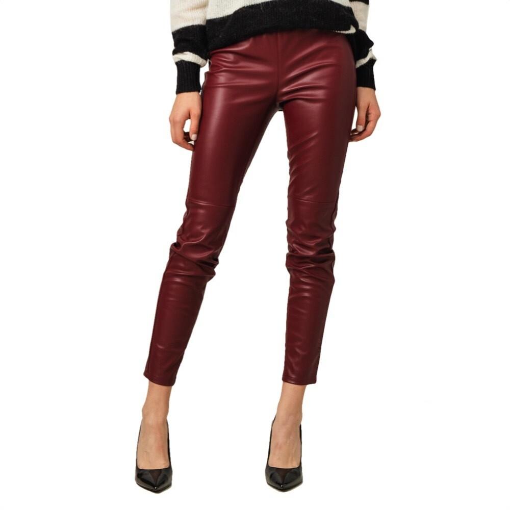 MICHAEL KORS - Pantalone in ecopelle - Dark Brandy