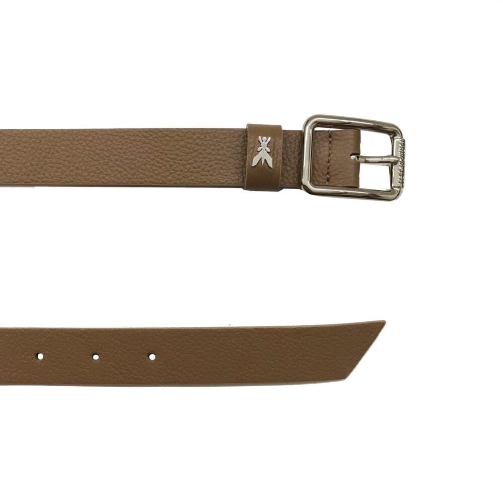 PATRIZIA PEPE - Cintura vita bassa in pelle martellata - New Taupe