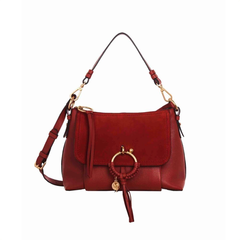 SEE BY CHLOÉ - Joan Small Shoulder Bag - Faded Red