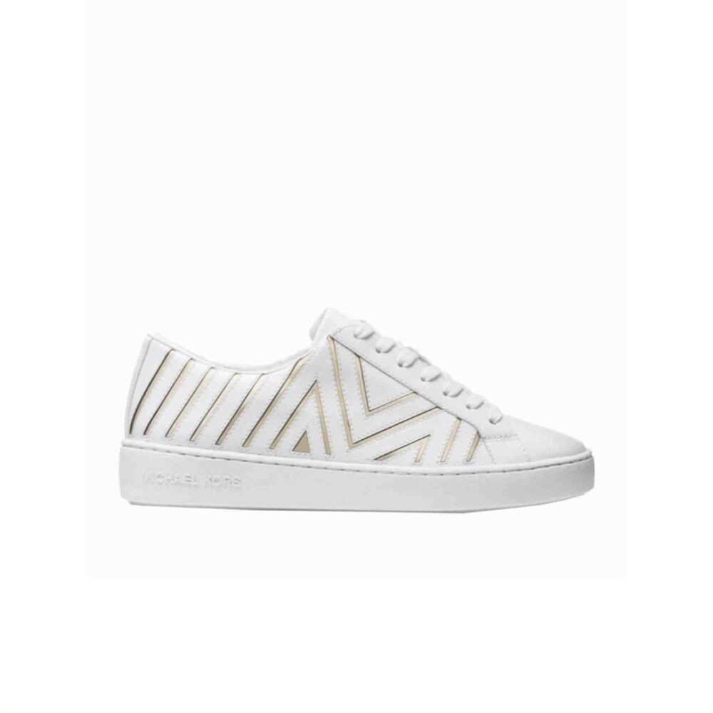 MICHAEL KORS - Whitney Sneakers stringata - Optic White/Pale Gold