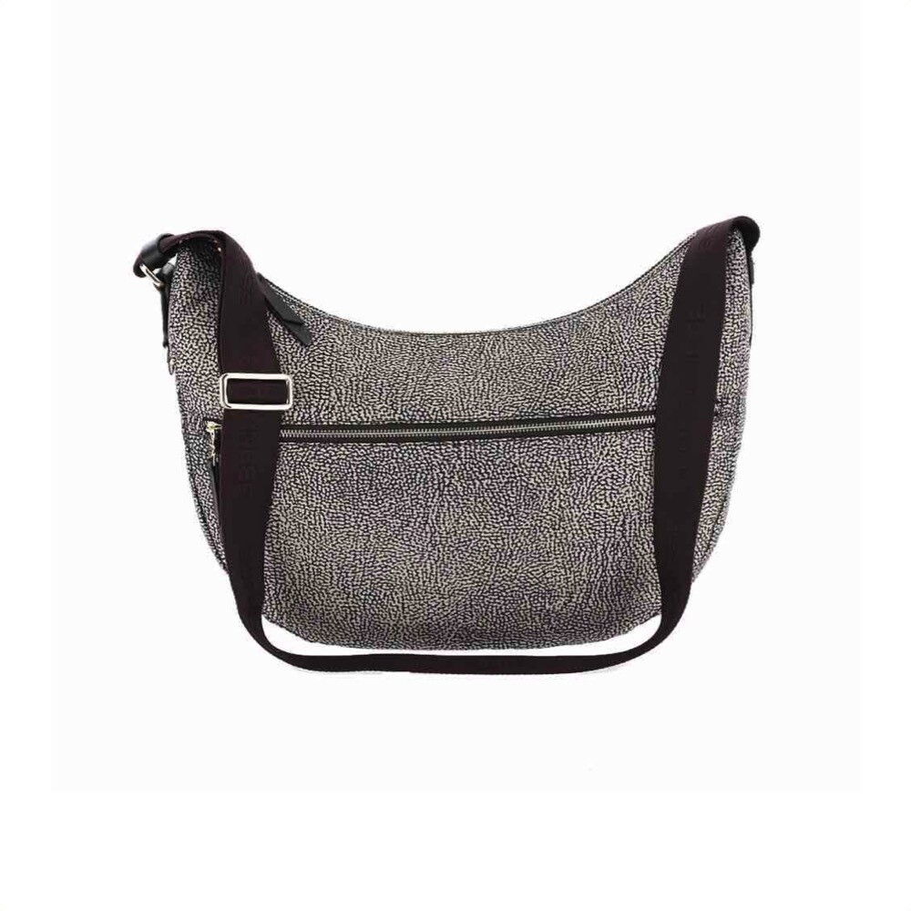 BORBONESE - Luna Bag Middle in Nylon Jet OP - OP Natural/Brown