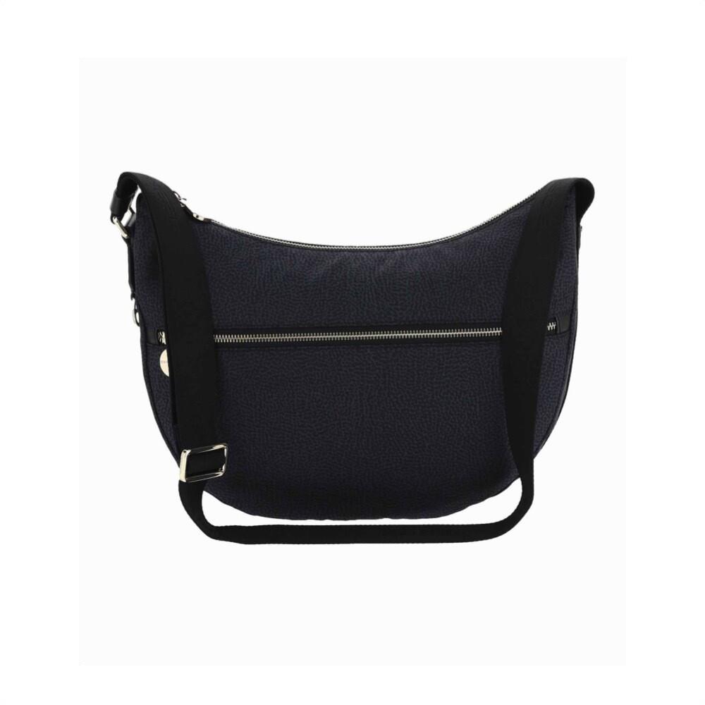 BORBONESE - Luna Bag Middle in Nylon Jet OP - Black