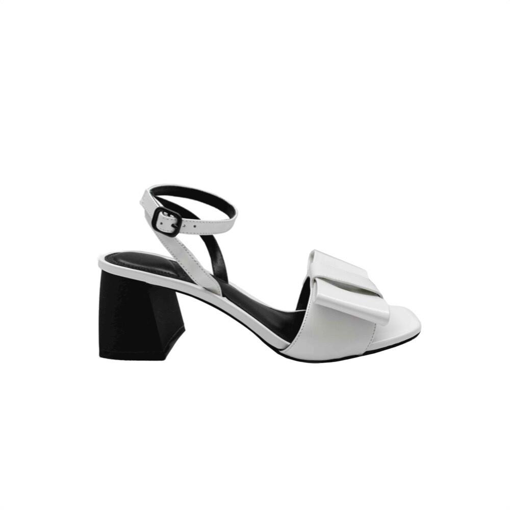 WHAT FOR - Matina sandalo con fiocco - White