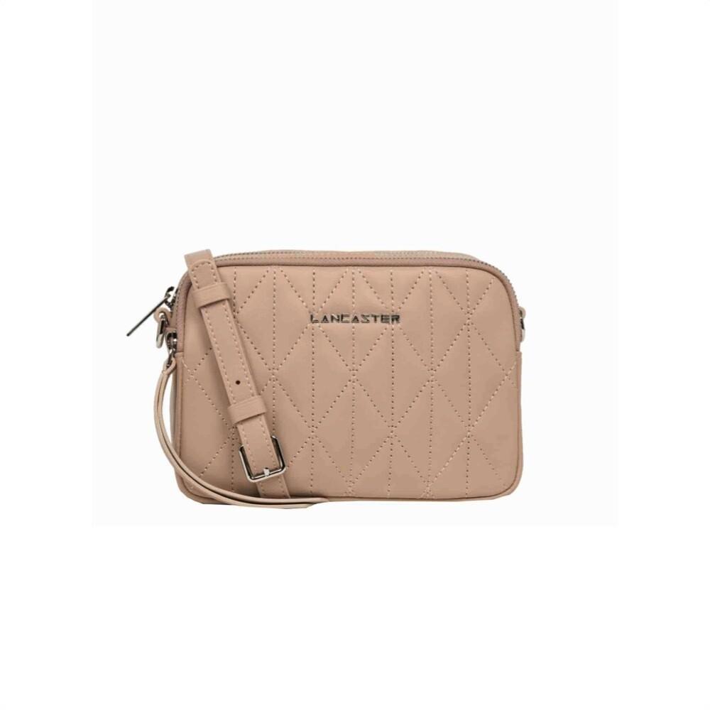 LANCASTER - Parisienne Matelassé Crossbody Bag - Nude