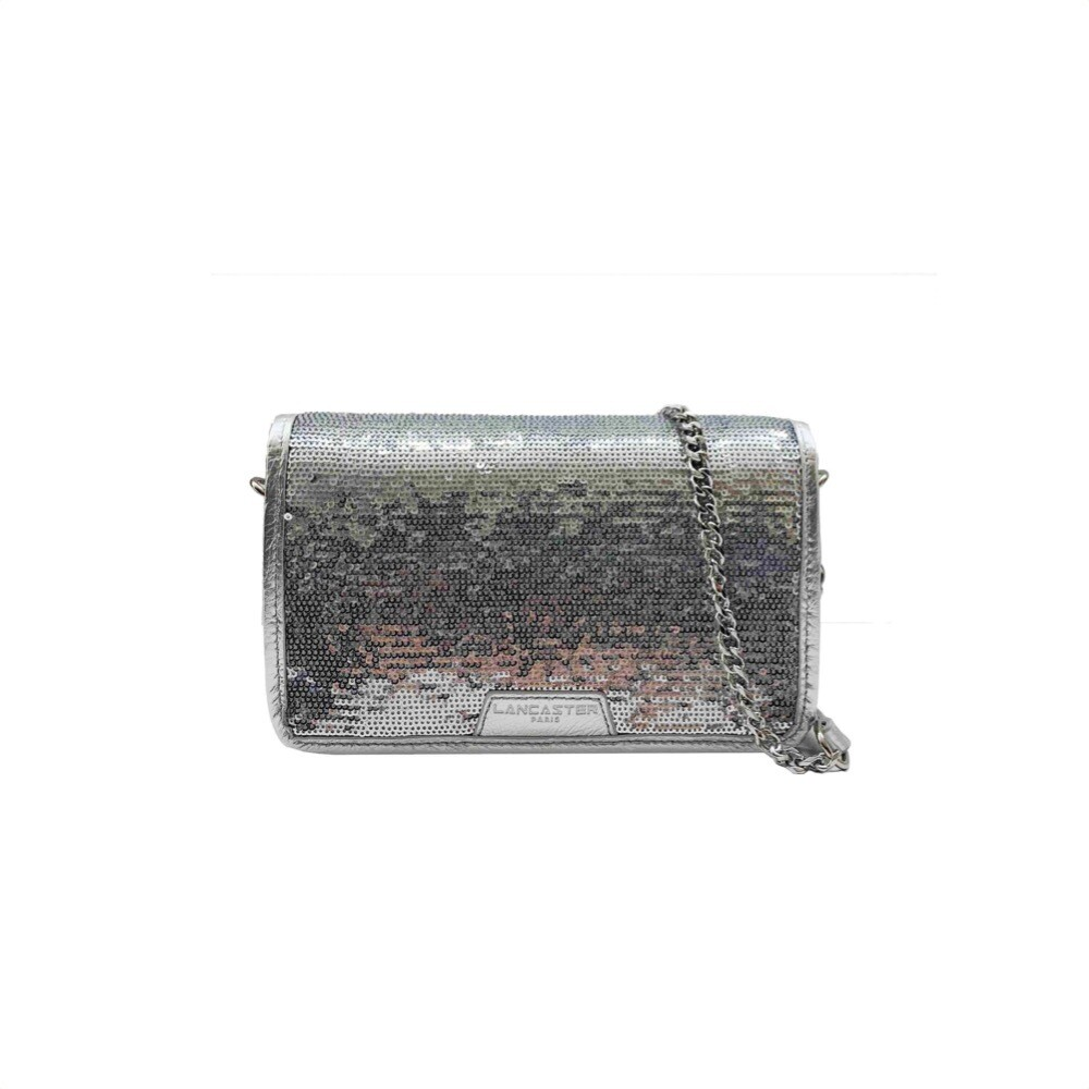 LANCASTER - Actual Shiny Sequin Mini Pochette - Argent
