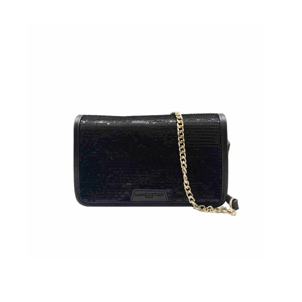 LANCASTER - Actual Shiny Sequin Mini Pochette - Noir