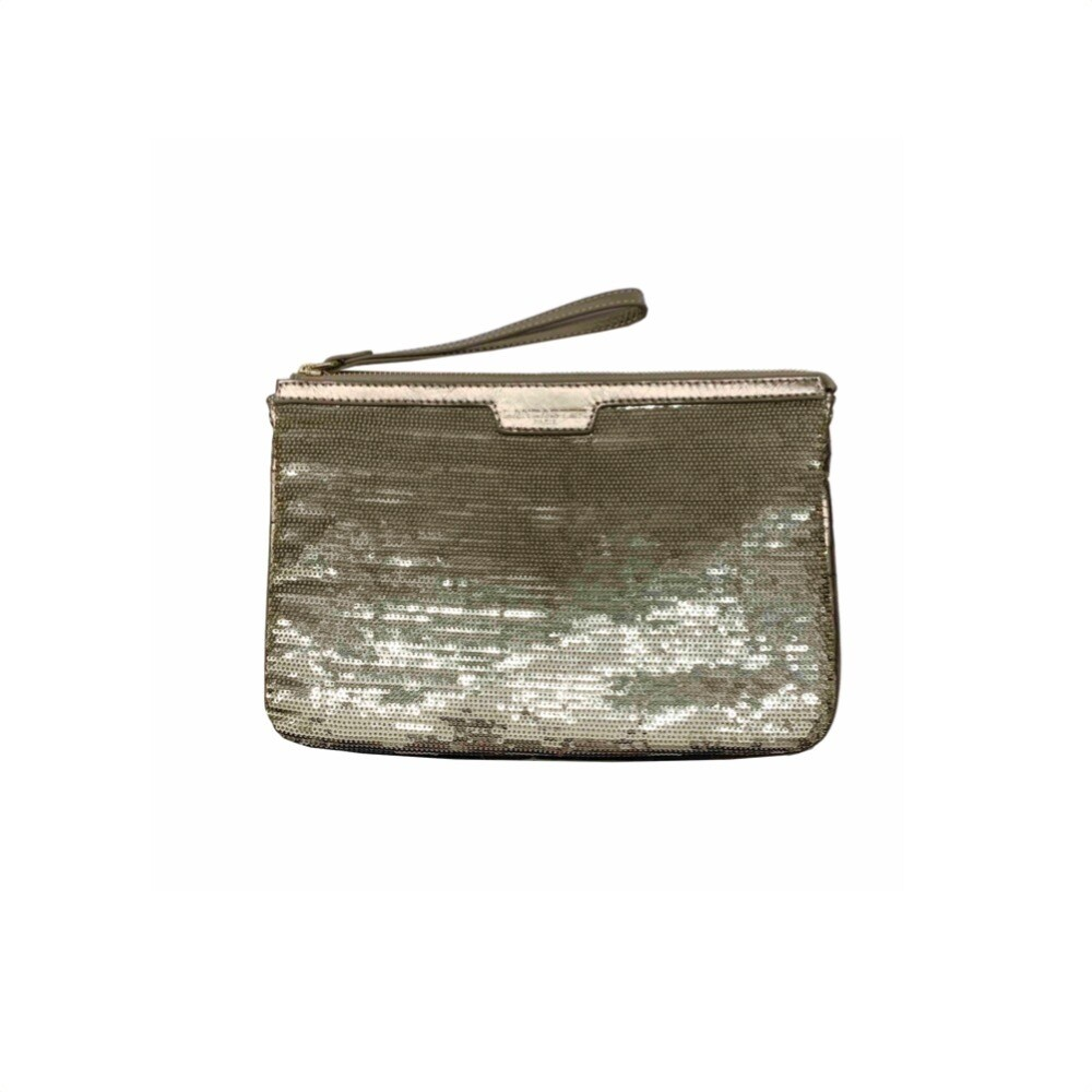 LANCASTER - Actual Shiny Sequil Pochette - Or