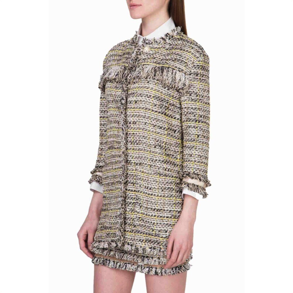 PATRIZIA PEPE - Trench con frange - Natural Check