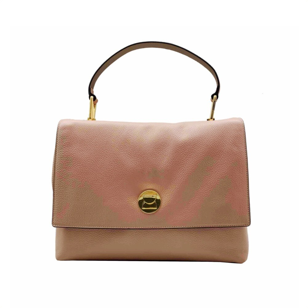 COCCINELLE - Liya Borsa a mano grande in pelle - Pivoine/Taupe