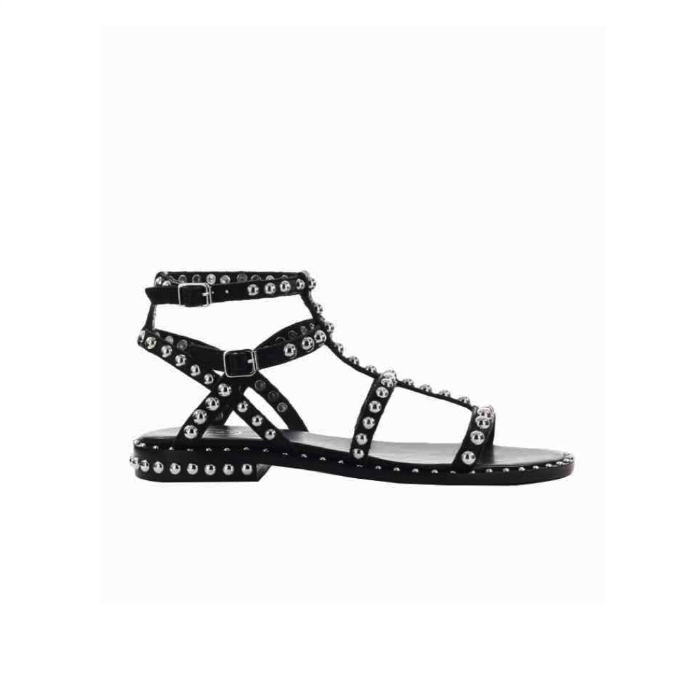ASH - Precious Sandalo con borchie - Black/Silver Studs