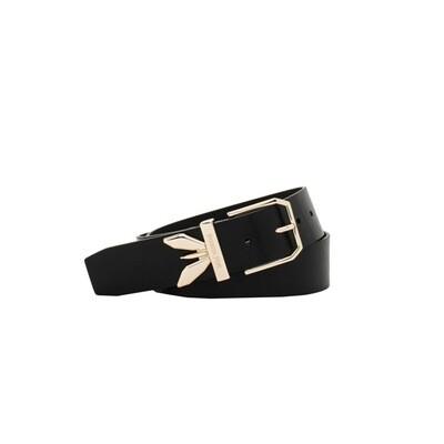PATRIZIA PEPE - Cintura Clachette vita bassa in pelle - Nero