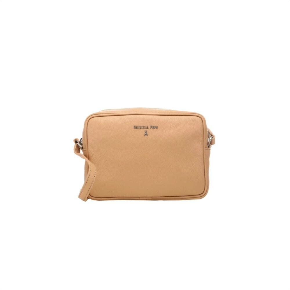 PATRIZIA PEPE - Camera Bag in pelle - Pompei Beige