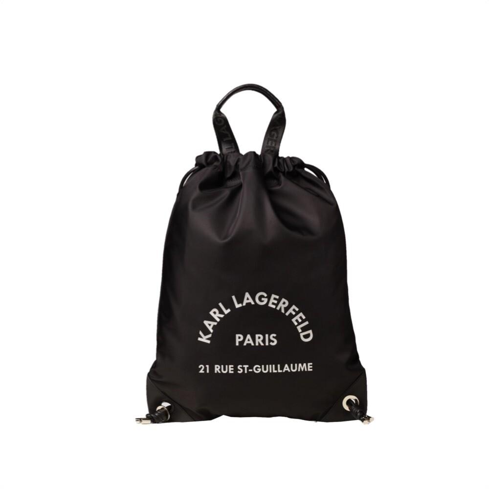 KARL LAGERFELD - Zaino Piatto Rue St-Guillaume- Black