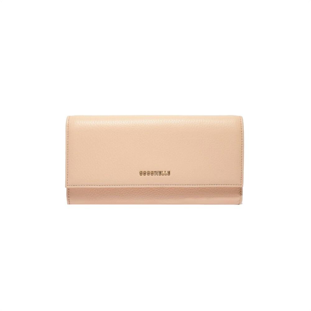 COCCINELLE - Metallic Soft Portafoglio Grande - Nude