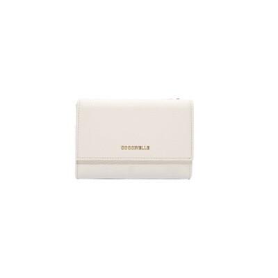 COCCINELLE - Metallic Soft Portafoglio Medio - Chalk
