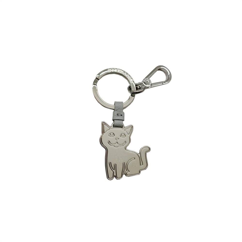 COCCINELLE - Gatto Portachiavi/Charm Basic Metal Nickel - Dolphin
