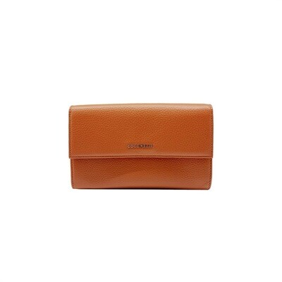 COCCINELLE - Metallic Soft Portafoglio Maxi - Tan