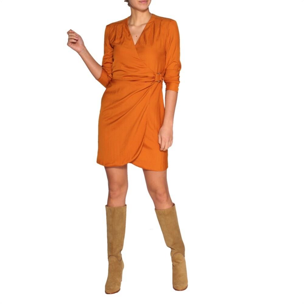 PATRIZIA PEPE - Abito a portafoglio - Copper Orange