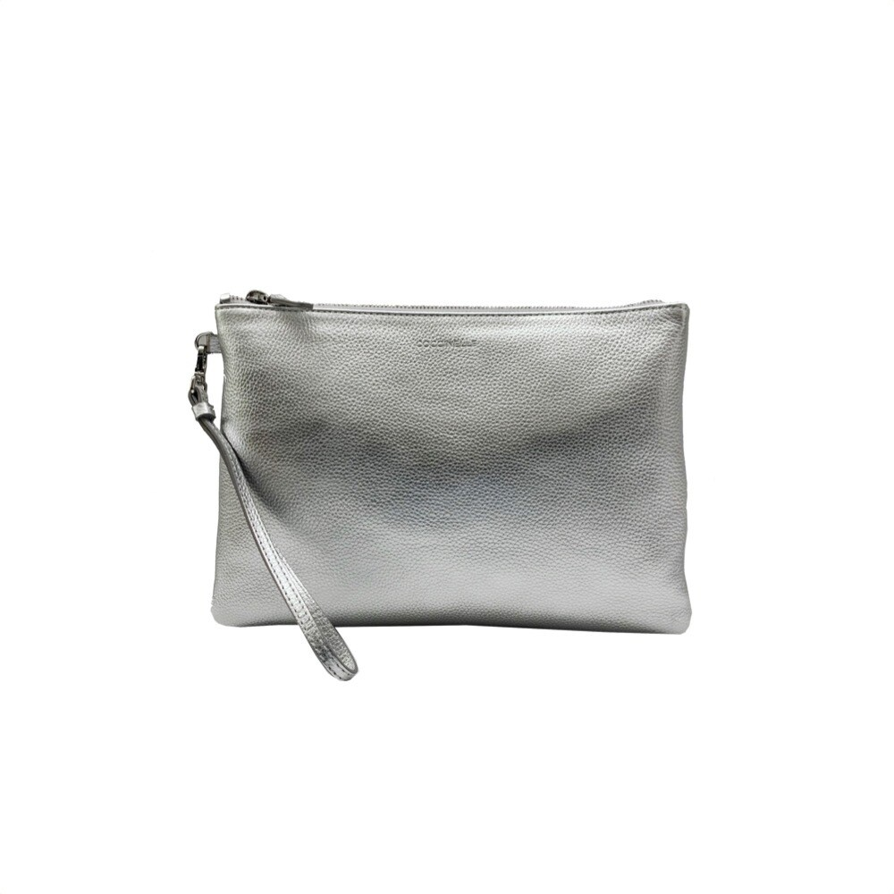 COCCINELLE - New Best Soft pochette grande - Silver