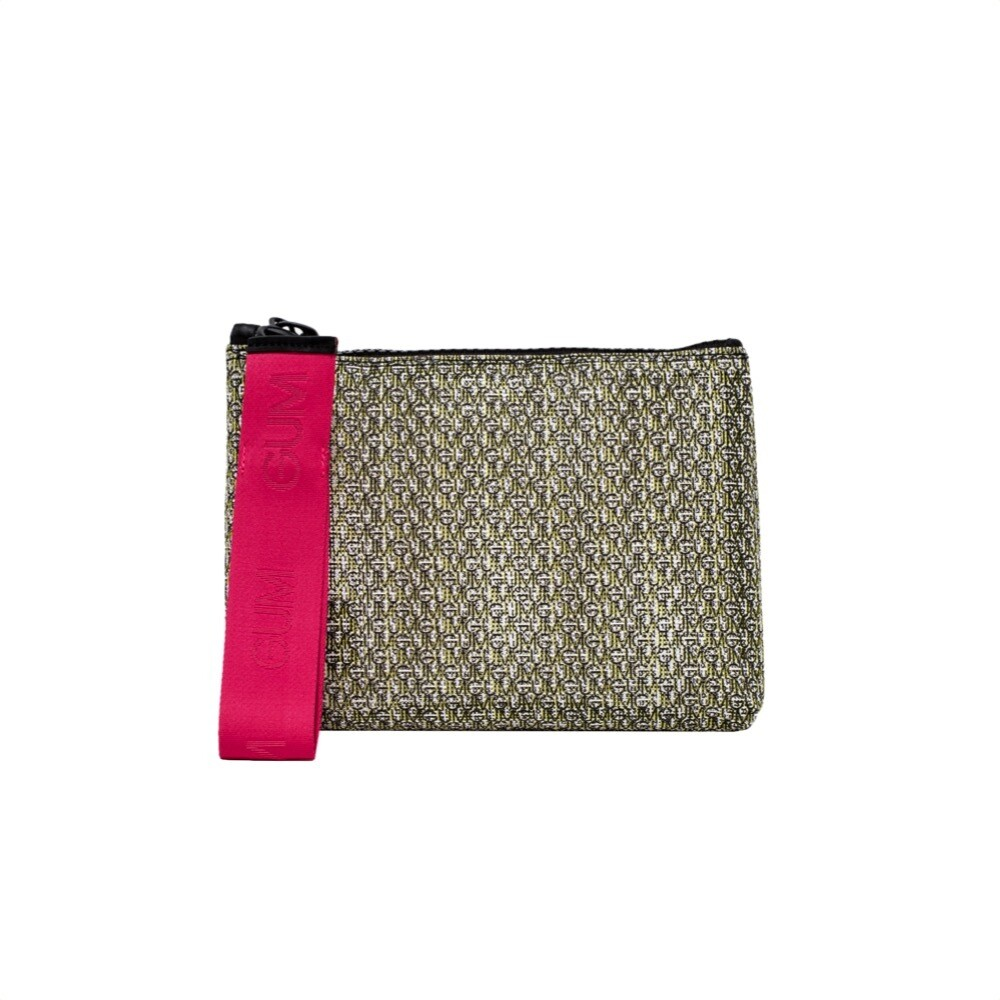 GUM - Numbers All You Need Is Beach Pochette M - Bianco Monogram+Fuxia