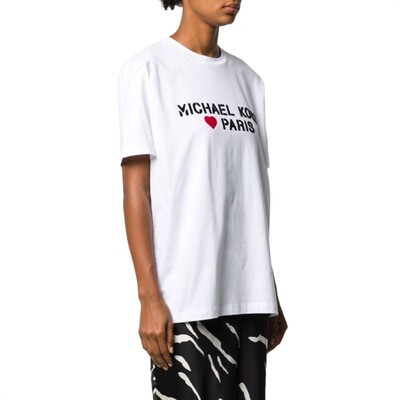 MICHAEL KORS - T-shirt Paris Heart - White