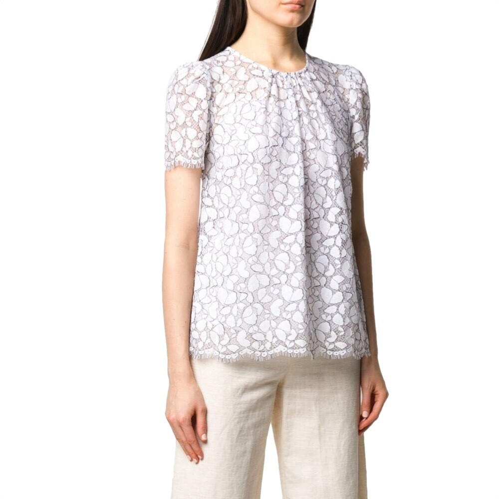 MICHAEL KORS - Blusa ricamata in pizzo - White