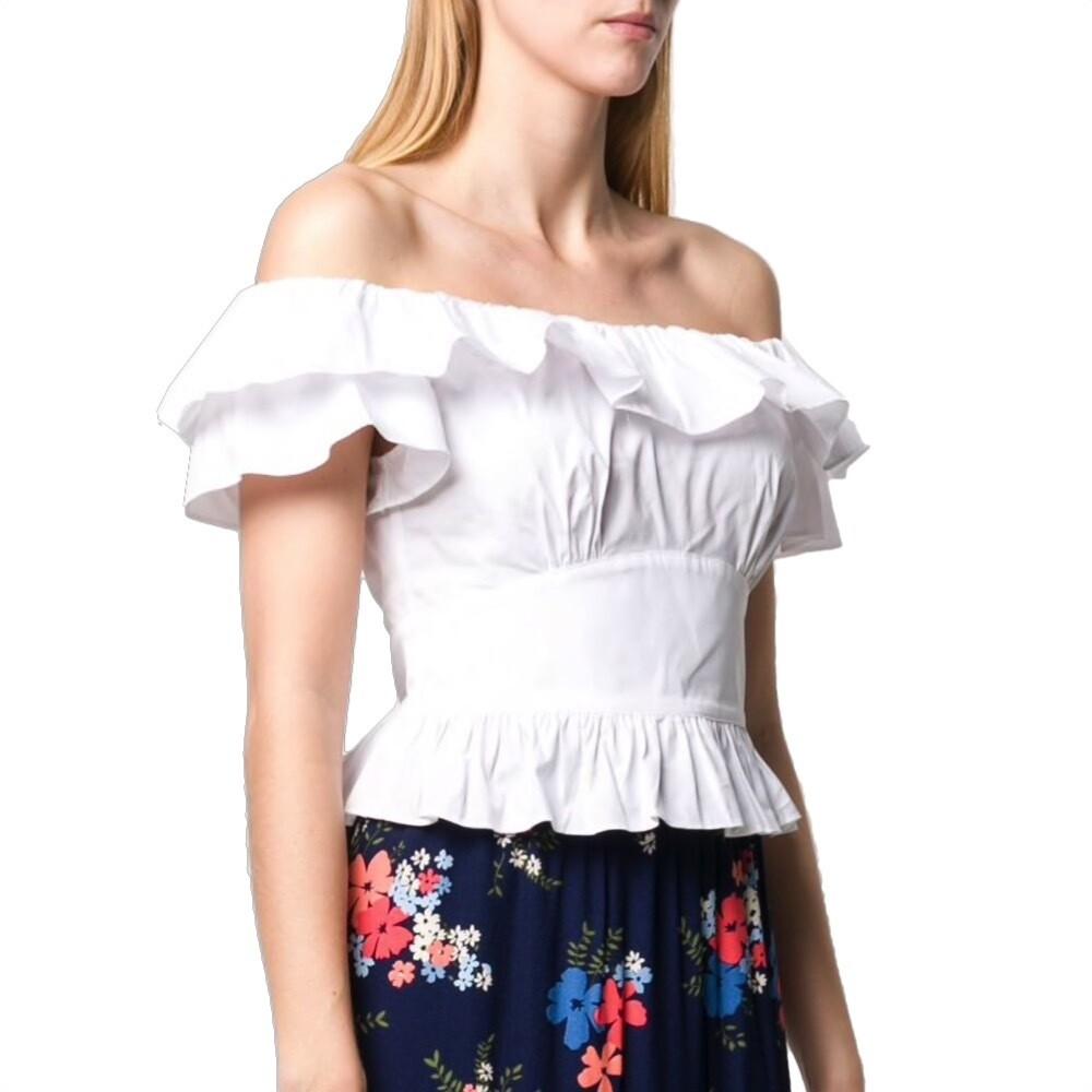 MICHAEL KORS - Top in cotone con spalle scoperte - White