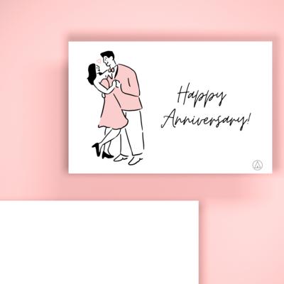 BIGLIETTO REGALO - Romantico Happy Anniversary